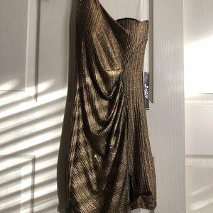 Jump one-shoulder glitter mini dress size 1-2